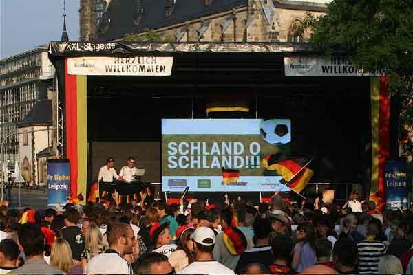 Fanfest in Leipzig - Fußballfieber in Gaststätten und auf der Gottschedstraße
