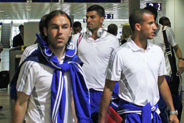 Israelische Fußball-Nationalmannschaft in Leipzig gelandet