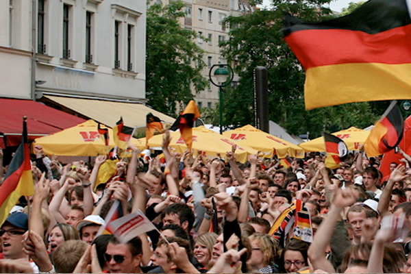 Start der Fußball-Europameisterschaft - Public Viewing an vielen Orten in Leipzig