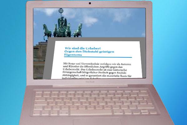 Wir sind die Urheber - Unterschiedliche Aktionen für das Urheberrecht im Netz