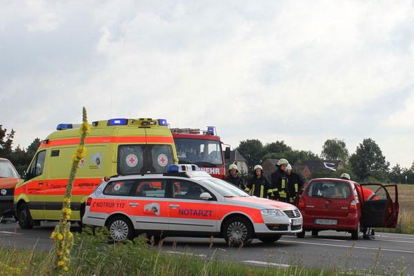 Frau bei Unfall auf der B2 nahe Bad Düben schwer verletzt