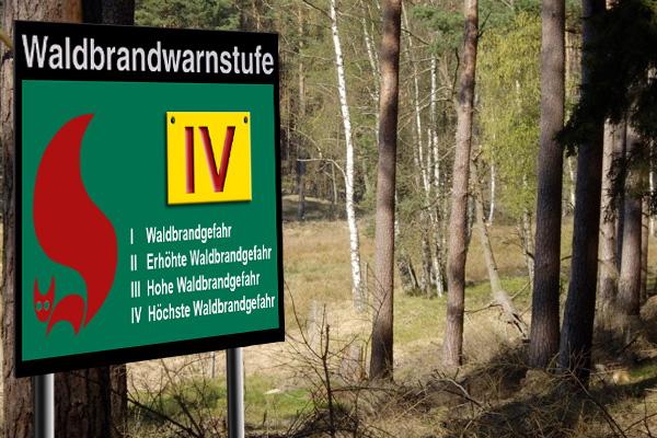 Erhöhte Waldbrandgefahr in Mitteldeutschland