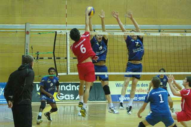 L.E. Volleys mit Tie-Break-Sieg gegen Rottenburg