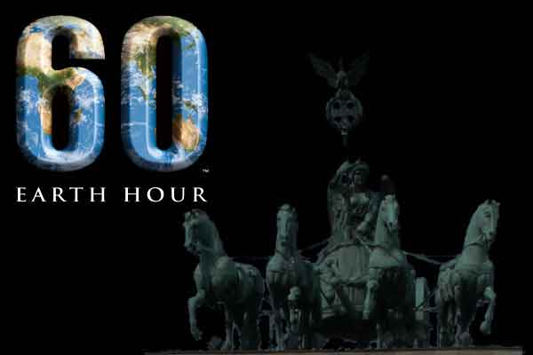 Earth Hour - Licht aus auch am Brandenburger Tor